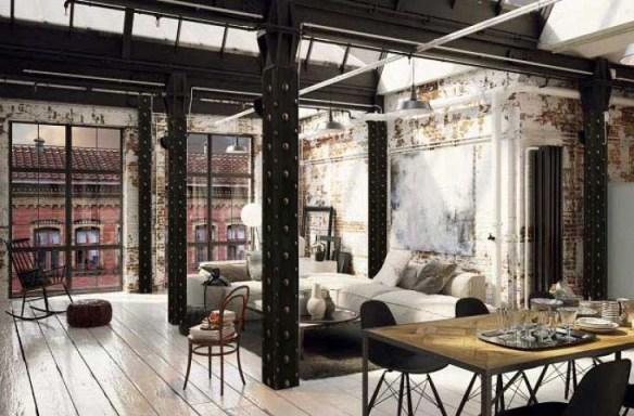 rénovation peinture appartement déco style Eiffel