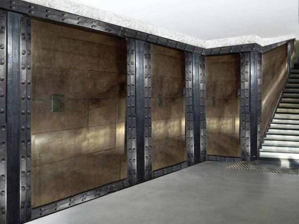 murs métal sur trompe l'oeil et IPN style Eiffel