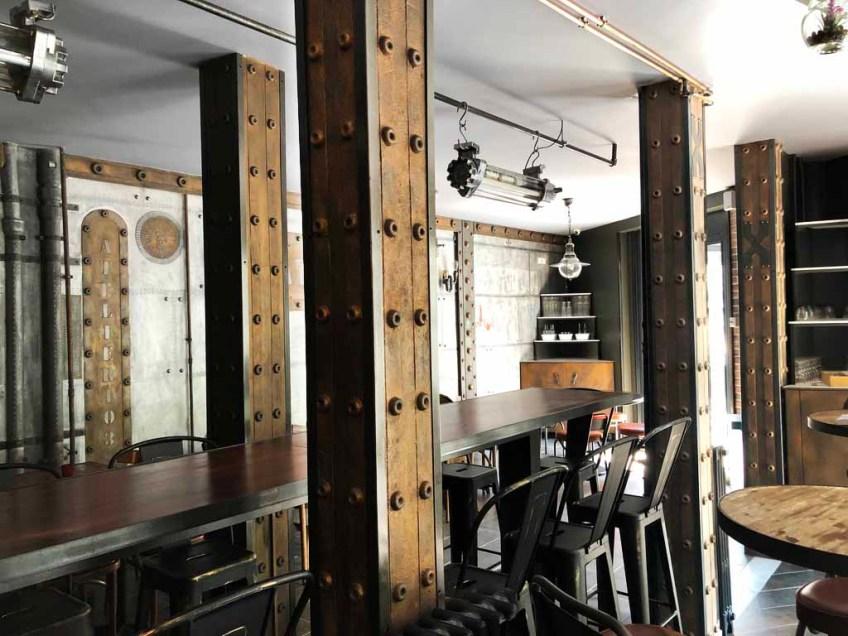 brasserie style industriel et IPN style Eiffel