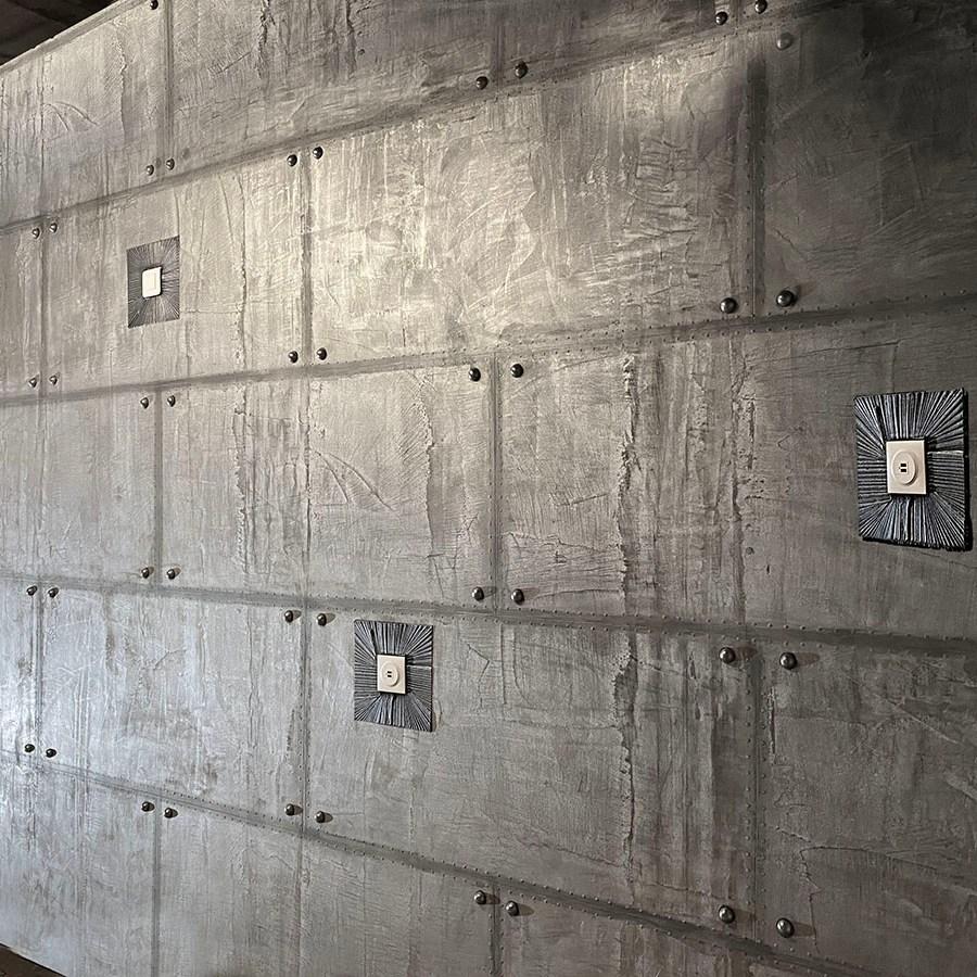 décorateur d'intérieur murs industriel murs métal et IPN style eiffel décoration immeuble paris, support BA13