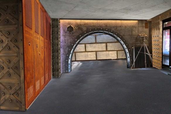 decoration salle de musculation style industriel et IPN style Eiffel
