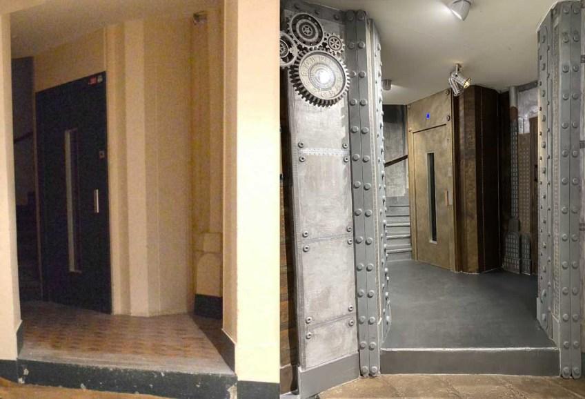 artiste peintre décorateur murs métal style industriel