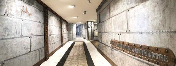 Chantier et rénovation de style industriel et IPN style Eiffel sur murs métal style industriel