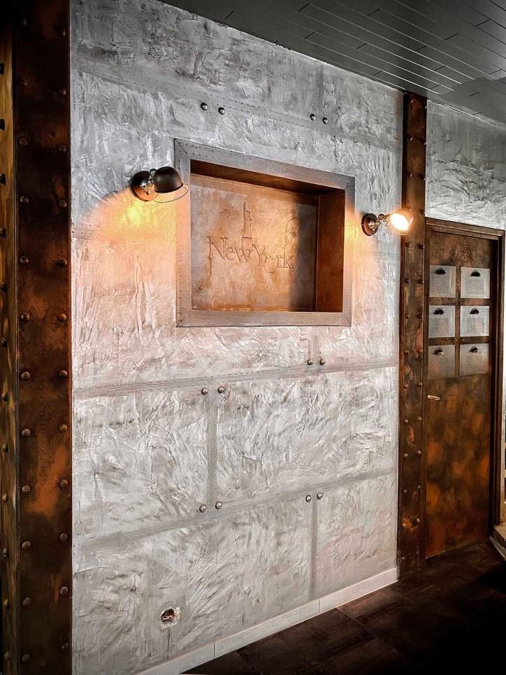 murs métal et déco peinture métal au style industriel