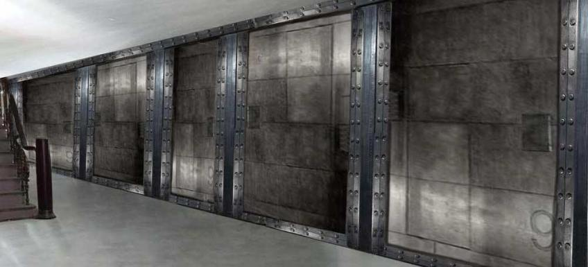 peintre décorateur de salle de sport murs métal et IPN style Eiffel