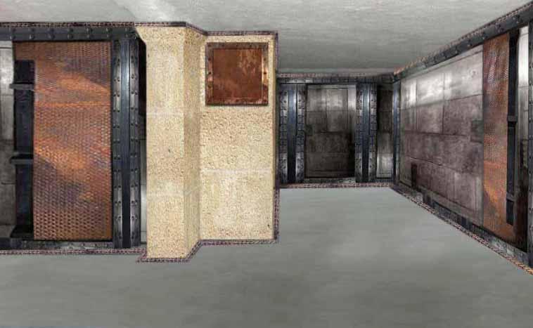 décoration agence de voyages murs métal et IPN style Eiffel architecte d'intérieur paris