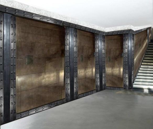 décoration murs métal industriel restaurant style Eiffel