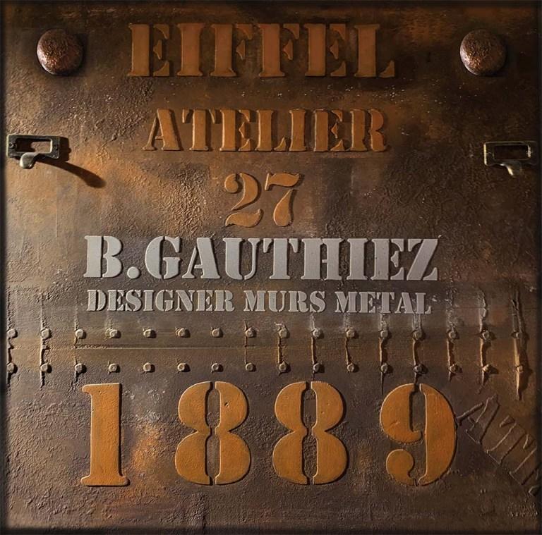 benoit gauthiez mur décoration murs métal et IPN style Eiffel