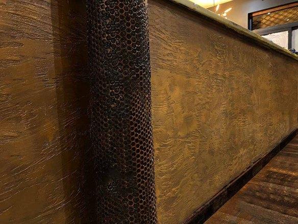 comptoir bar industriel métallisation