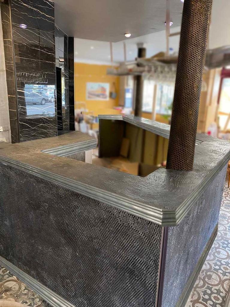 comptoir de bar style industriel métallique