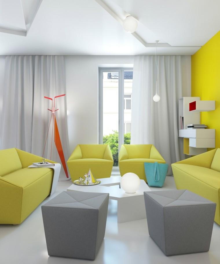 Decoration Interieur La Combinaison Gris Et Jaune Le Parfait Mariage Decoration Salon
