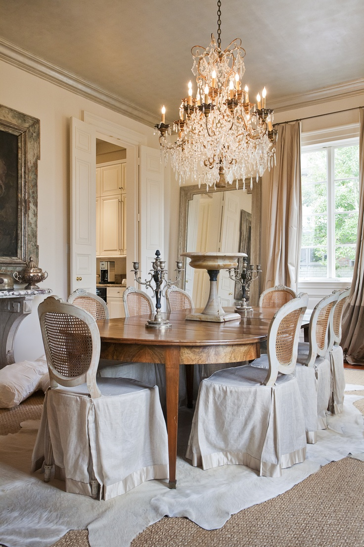 25 Shabby-Chic Style Dining Room Design Ideas - Decoration ...
