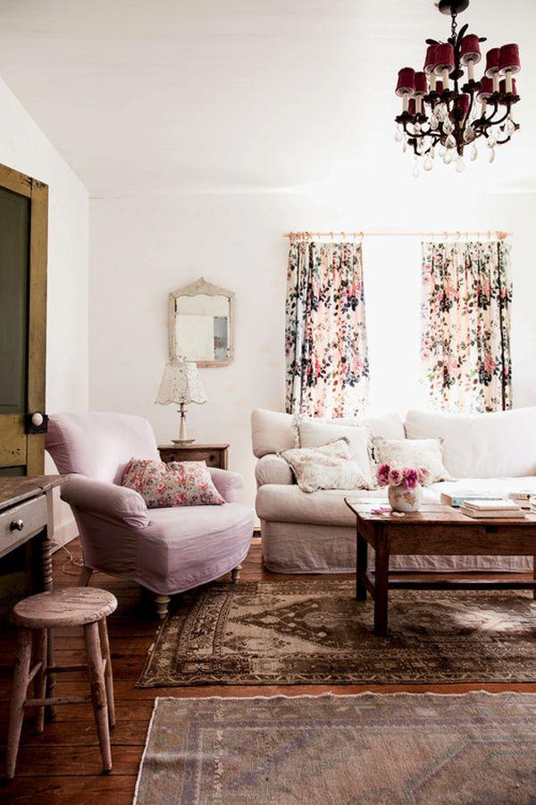 25 Shabby-Chic Style Living Room Design Ideas - Decoration ...