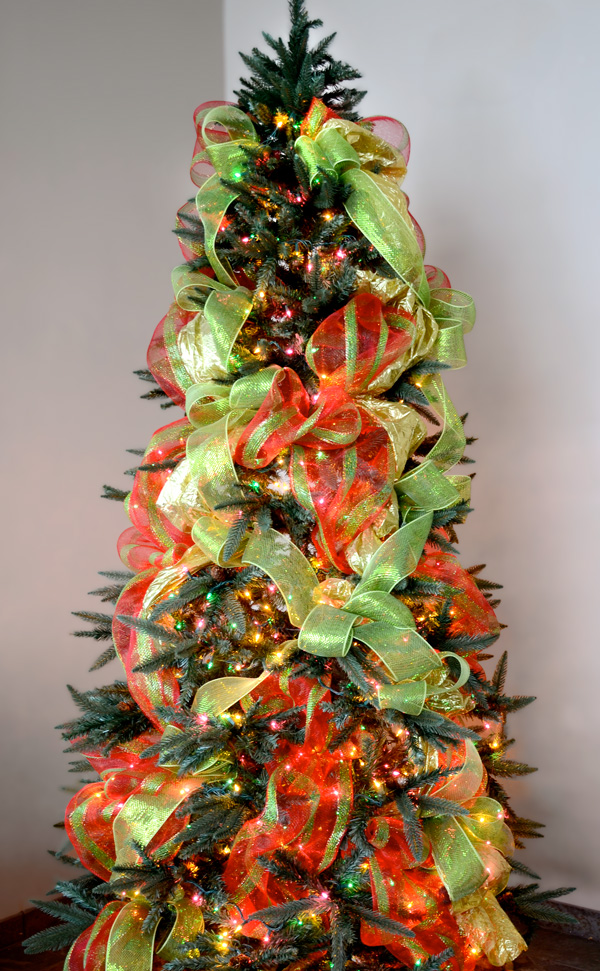40 Awesome Christmas Tree Decoration Ideas With Ribbon ...