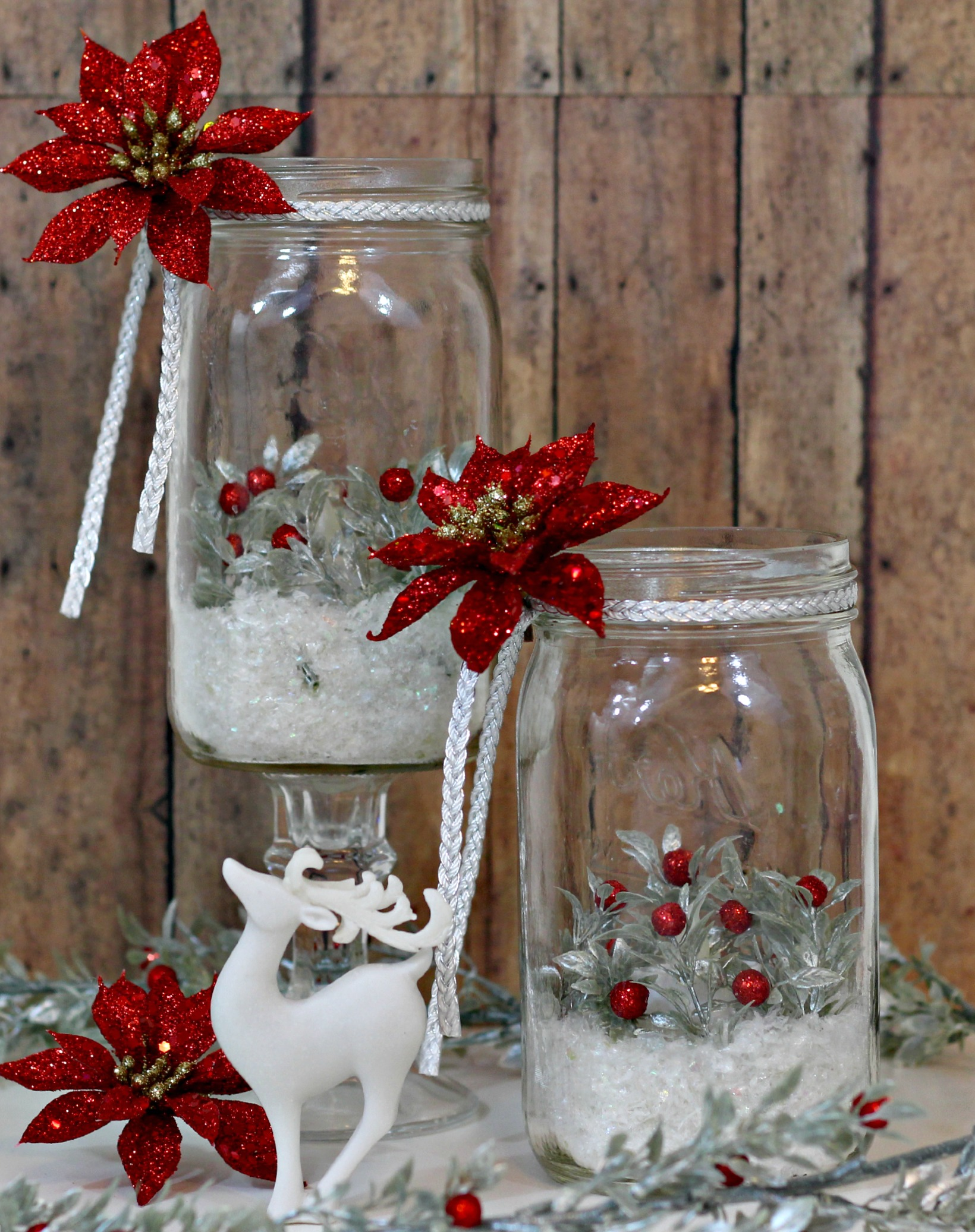 40 Christmas Amp Holiday Decorating With Mason Jars