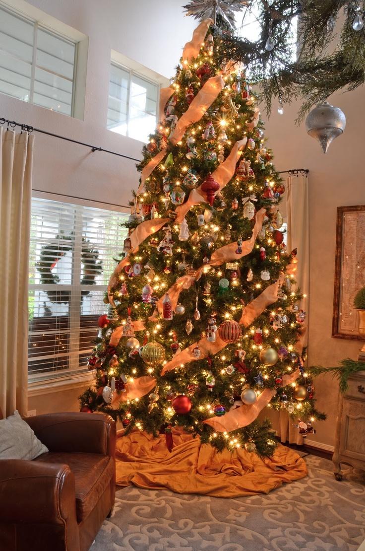 35 Orange Theme Christmas Tree Decorations Ideas
