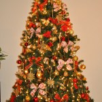 Simple Christmas Tree Decorations Red And Gold Misli Poklave