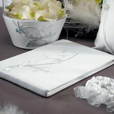 Livre Dor Oiseaux Blanc Mariage Thme Mariage Champetre