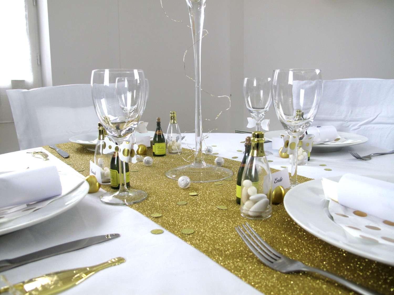 decoration nouvel an champagne blanche