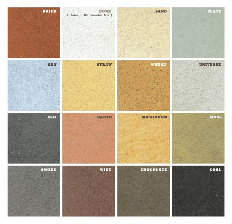 Concrete Countertop Color Chart