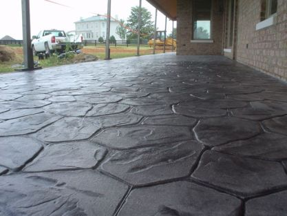 Stamped concrete in the Flower Rock Pattern