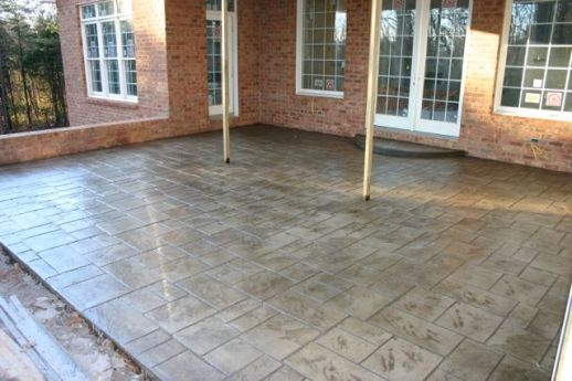 Stamped Concrete in an Ashlar Slate Pattern
