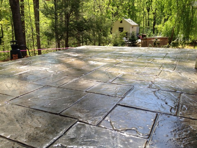 Stamped Concrete Overlays Are Designed To Use As A Cover Up For Existing Surfaces
