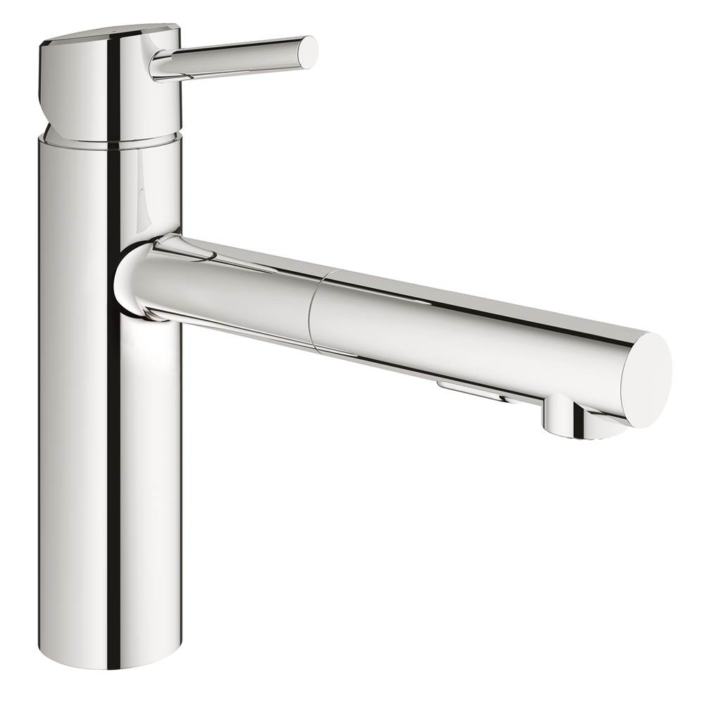 Grohe 31453001 Concetto Single Handle Pull Out Kitchen Faucet
