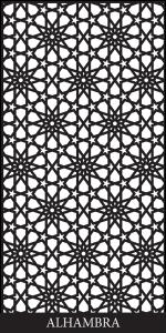 Alhambra Laser Cut Decorative Screen