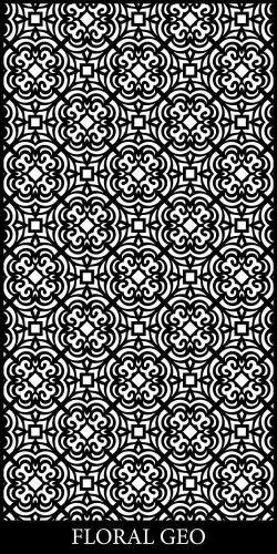 Floral Geo Decorative Screen Design
