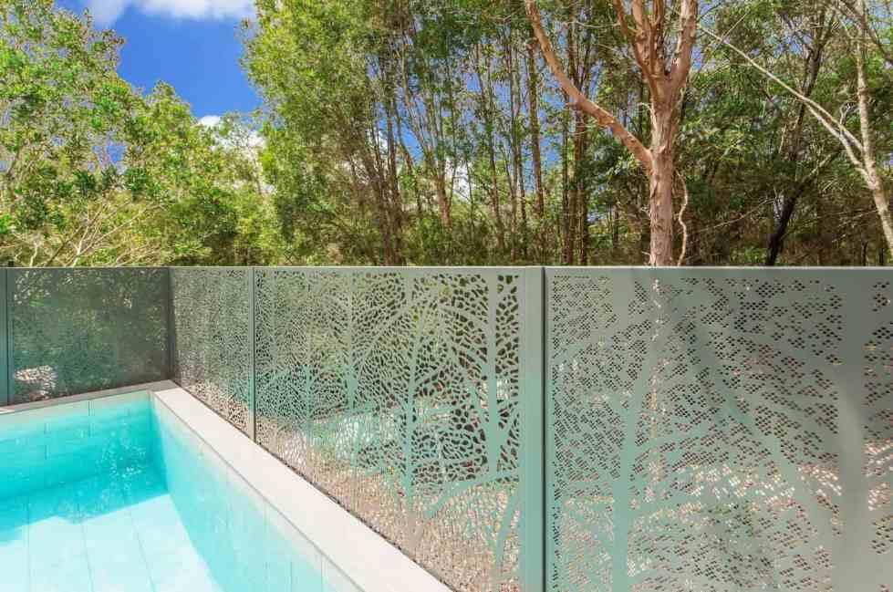 Autumn Leaves Pool Safe PoolPerf Fence