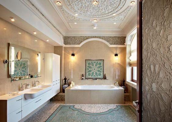 حمام ديكورات عربية في غاية الفخامة لمنزلك