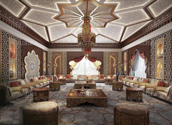 غرفة جلوس 5 ديكورات عربية في غاية الفخامة لمنزلك
