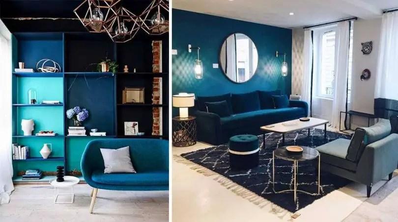 salon gris et bleu choisir son canape