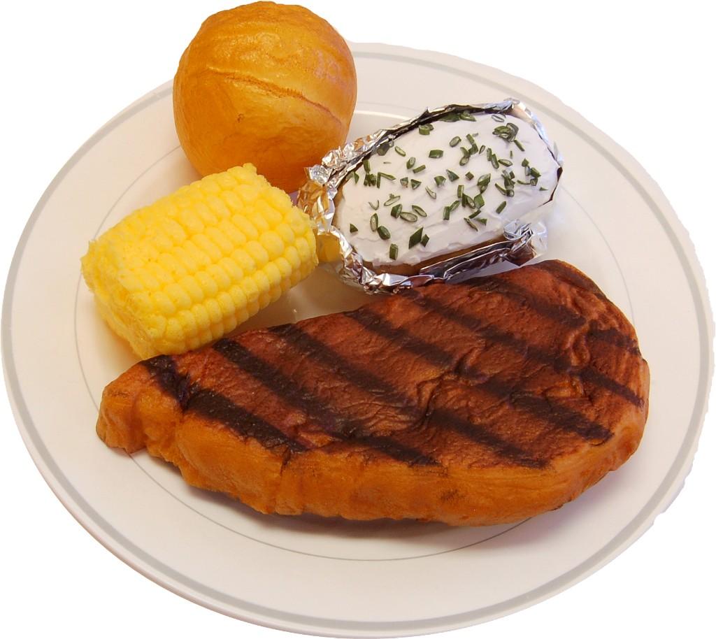 Fake Steak Dinner Plate