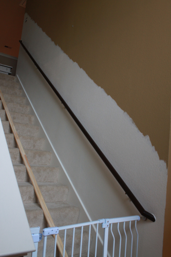 staircase makeover painting