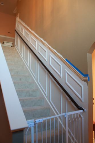 staircase makeover panels installed
