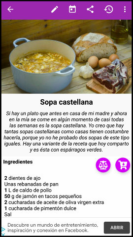 app para recetas RecetteTek