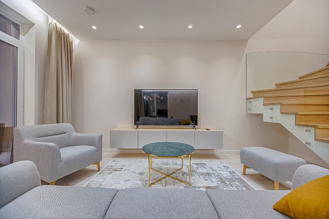 salón de estilo contemporáneo