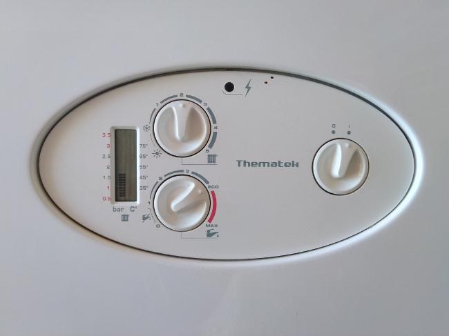 controles de la caldera