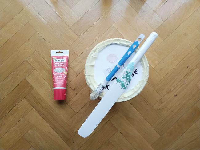 masilla y pintura