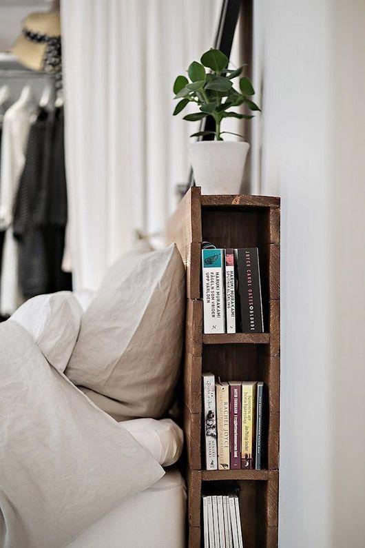 cabecero con almacenaje para libros