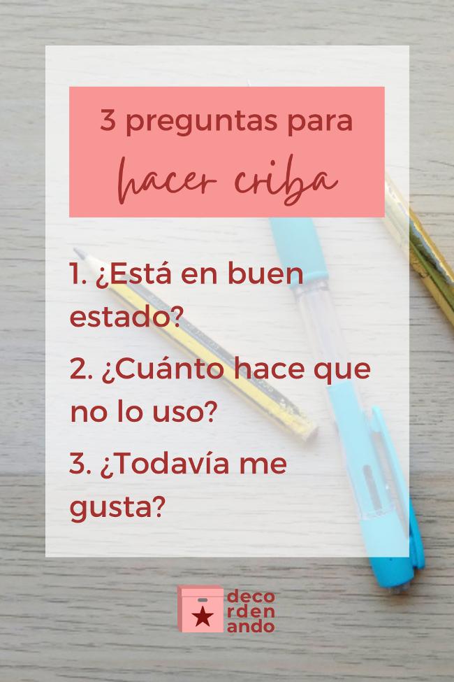 3 preguntas para hacer criba (imagen para Pinterest)