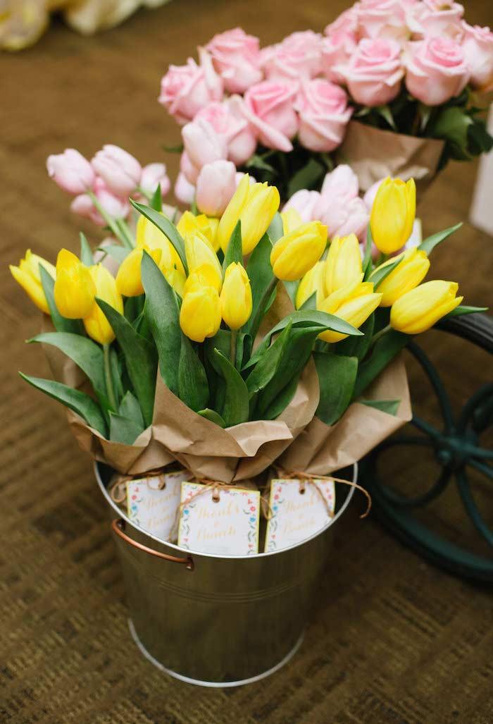 Flores para distribuir como lembrancinhas