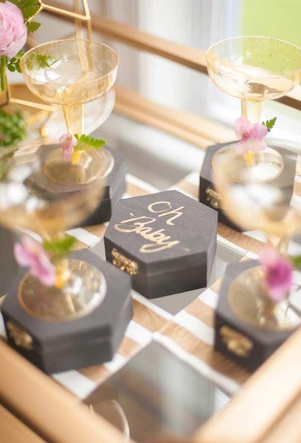 Caixas de mdf para lembrancinha de chá de bebê