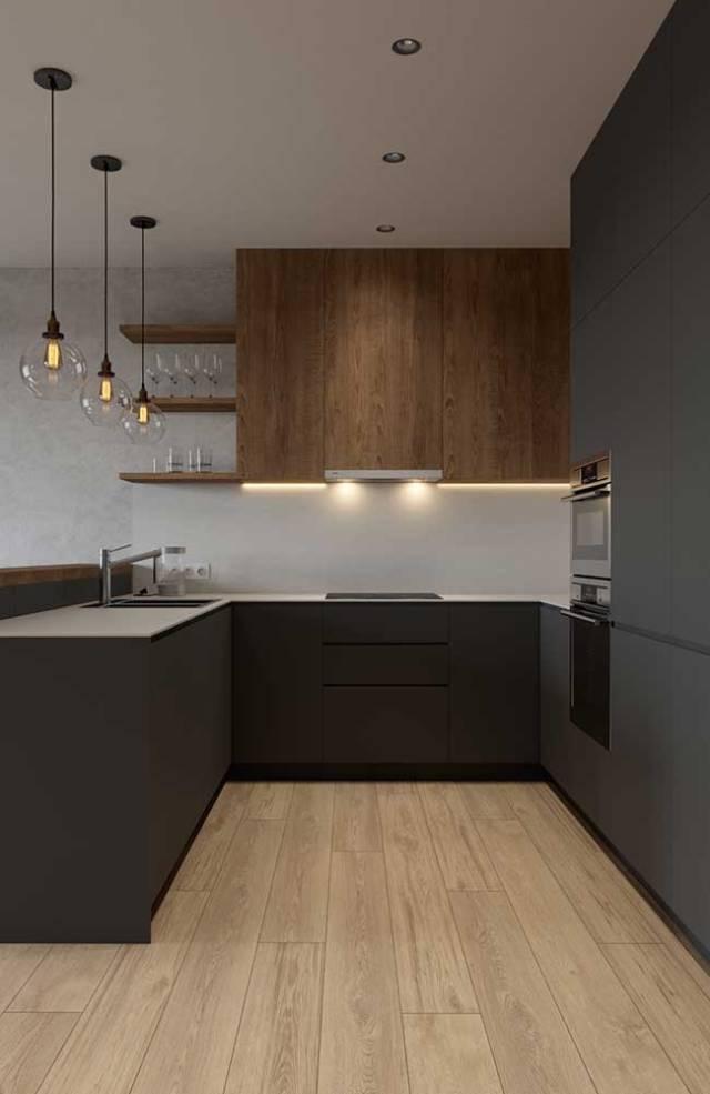 Na cozinha, as fitas de LED podem ser usadas junto aos armários