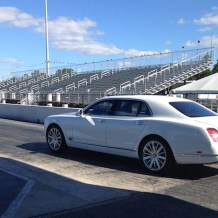 Drag strip with Bentley Mulsanne