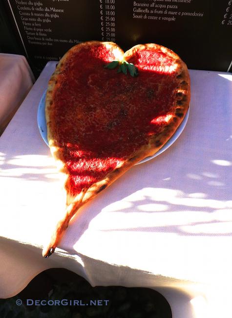 Heart shaped Italian Pizza