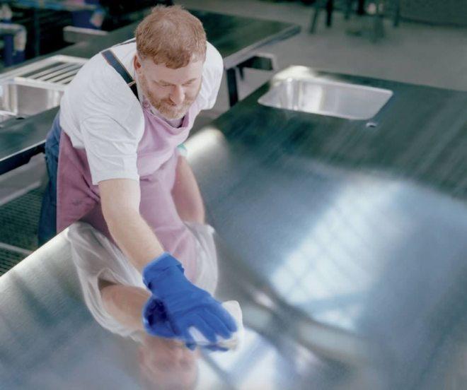 Handwork at Blanco SteelArt plant