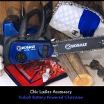 Hot New Spring Accessory For Ladies: The Kobalt Chainsaw